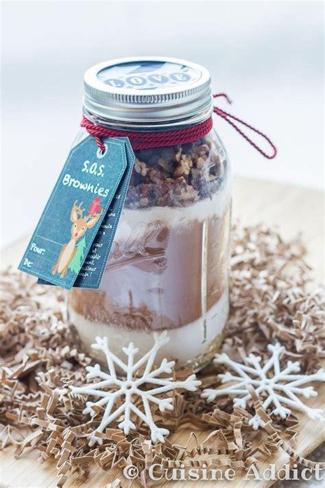 cuisine cadeau s o s brownie brownies dans un bocal cadeau gourmand
