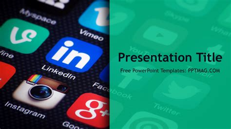 social media powerpoint template pptmag