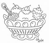 Coloring Dessert Pages sketch template