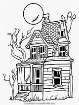 Coloring Halloween Realistic Adults Scary Bing Haunted sketch template