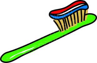 Toothpaste and Toothbrush Clip Art