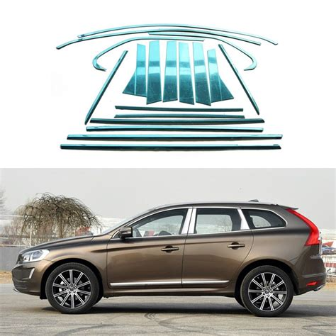 stainless steel car styling full window trim decoration