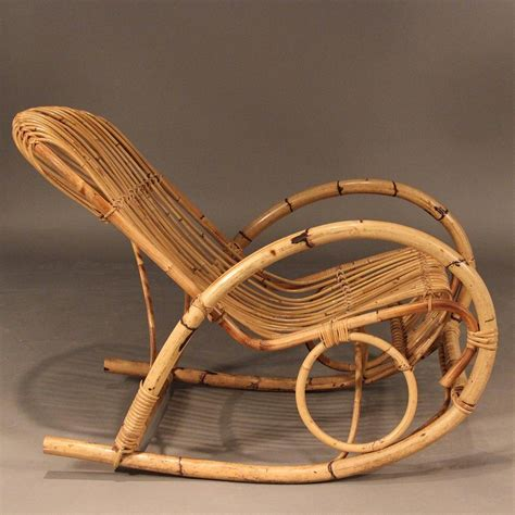 Free shipping on many items | browse your favorite brands | affordable prices. Franco Albini Style Mid-Century Rattan Rocking Chair For ...