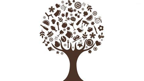 food growing  trees wallpaper vector wallpapers