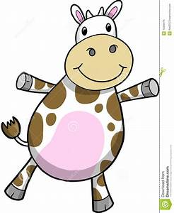 Cute Cow Vector Illustration Stock Images - Image: 10399414