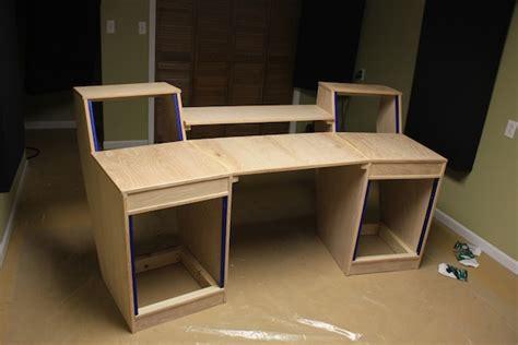 recording studio desk diy recording studio desk build d recordings
