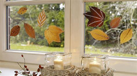 Herbstdeko Fenster Selber Machen by Herbstdeko Selber Machen Ideen Edding