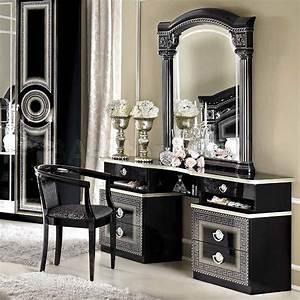 Vanities and Mirrors: Aida Vanity Dresser and Mirror in