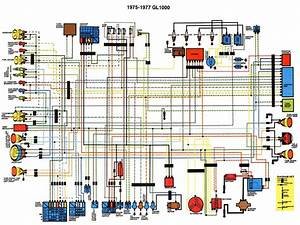 Gl1000 Goldwing Wiring Diagrams For 1975 Until 1977
