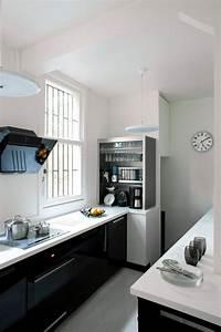 Cuisine noire des photos deco pour s39inspirer cote maison for Petite cuisine équipée avec meuble de salle a manger blanc