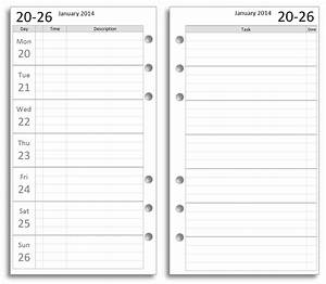 Philofaxy free filofax diary inserts to print on letter for Daytimer templates
