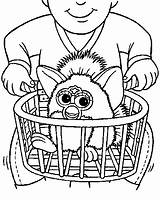 Furby Coloring Pages Laundry Basket Boom Drawing Coloringpages1001 Furbie Printables Template Getdrawings Baskets Drawings Fun Google sketch template