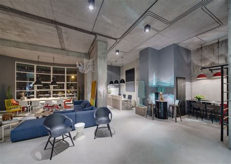 warehouse office design a modern office space that looks like an loft Modern