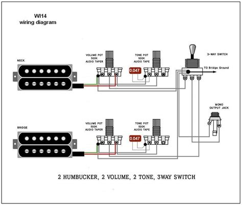 All 6 Part Rotory Way Switch Wiring Diagram 2 humbucker 1 volume 2 tone fender 5 way switch wiring