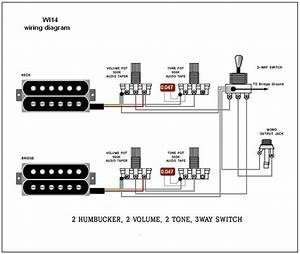 2 Humbucker 1 Volume 2 Tone Fender 5 Way Switch Wiring