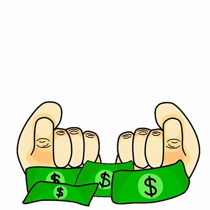 Money Animated Clipart Sticker Transparent Giphy Cartoon