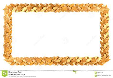 le cadre rectangulaire d or des branches de laurier illustration stock image 39700711