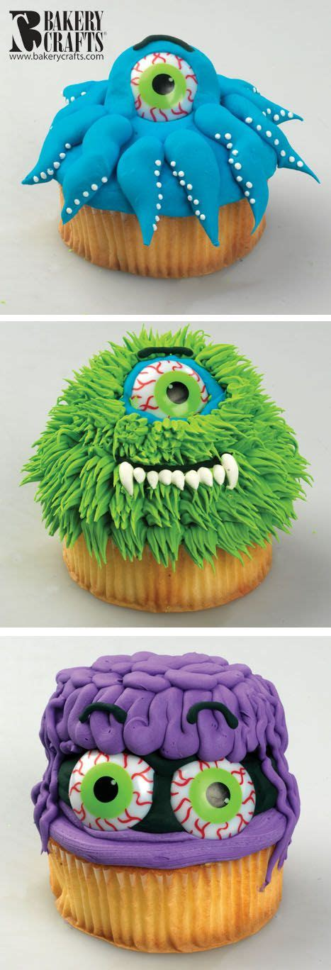 funny monster cupcakes    cake mix  work
