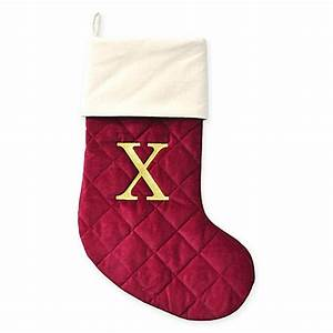 buy harvey lewistm letter quotxquot thick quilted velvet monogram With letter x stocking