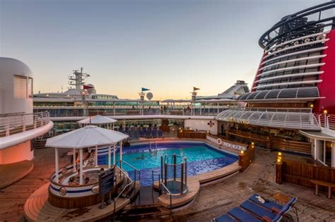 a walk around the disney magic cruise ship pools kids clubs theaters senses spa shutters