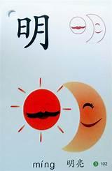 foto de 明 (míng) bright 明天 (míngtiān) tomorrow Learn chinese
