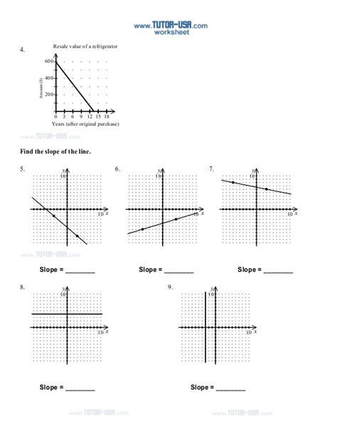finding slope worksheet graph finding slope from a graph