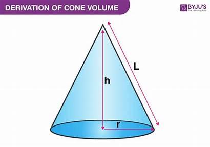 Cone Volume Formula Byjus Derivation Examples Radius