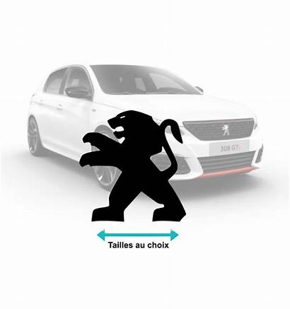 Stickers Peugeot Lion Voiture Developper Couleur