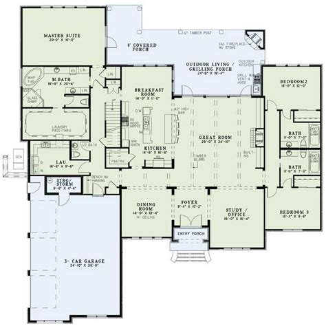 One Story House Plans With Large Kitchens by Beautiful One Story With Bonus Space Almost