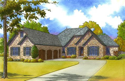 bed euro style  courtyard entry garage mk architectural designs house plans