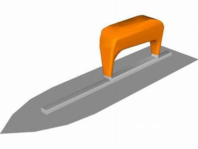 Trowel Concrete Clipart Clip Cliparts Cartoon Finishing