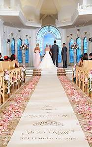 Pink Rose Petals Lined The Aisle During This Ceremony At