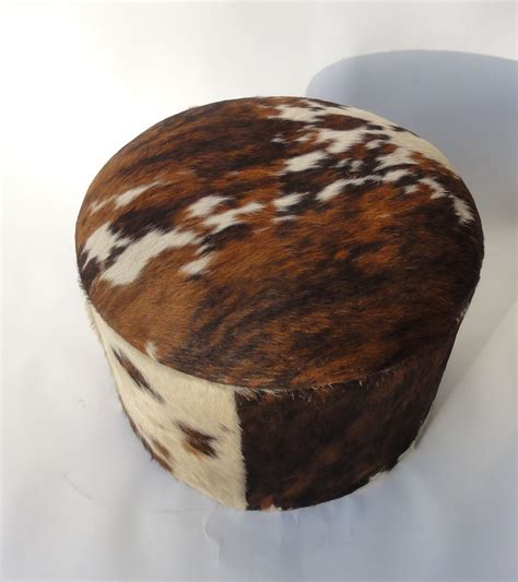Cowhide Ottoman For Sale by Vintage Cowhide Ottoman For Sale At Pamono