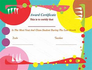 free printable award certificates for kids With kid certificate templates free printable