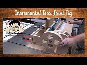 Homemade box/finger joint jig with an incremental