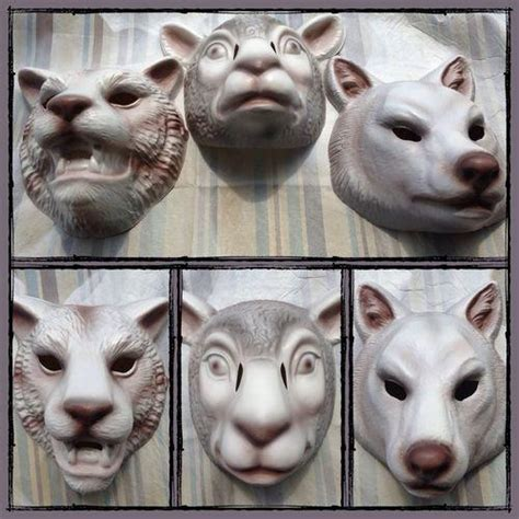 Set Of 3 You're Next Masks Fox Tiger Lamb from kreationx on