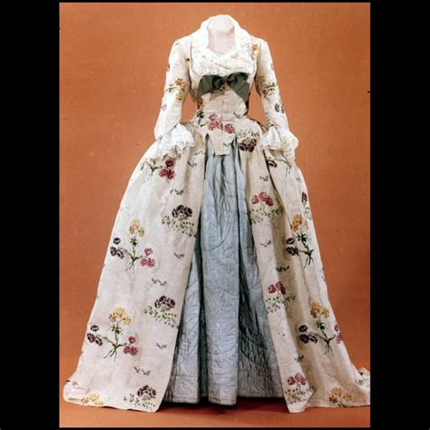 Woman's gown, brocaded silk, altered 1745-1750 (textile ...