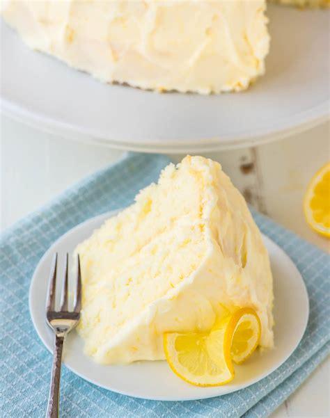 lemon layer cake  lemon cream cheese frosting