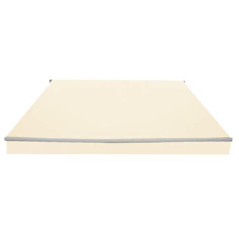 zenvida  ft    ft  polyester retractable standard patio awning reviews wayfair