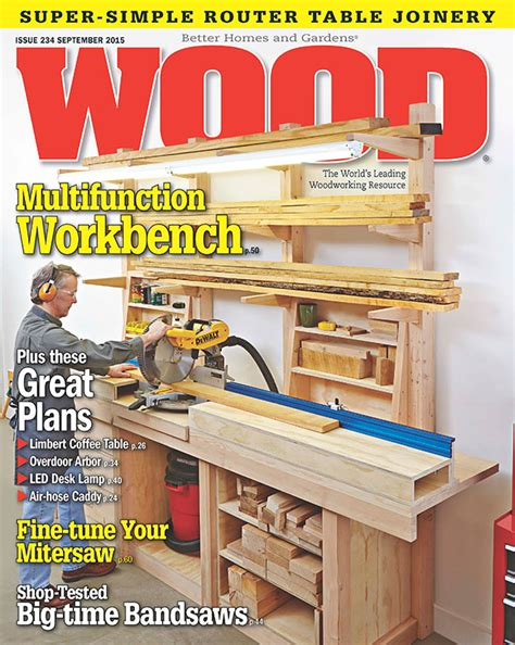 wood issue  september  woodworking plan  wood magazine