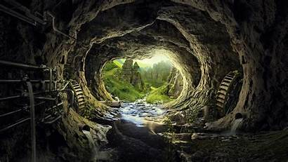 4k Cave Wallpapers Tunnel Fantasy Background Heaven