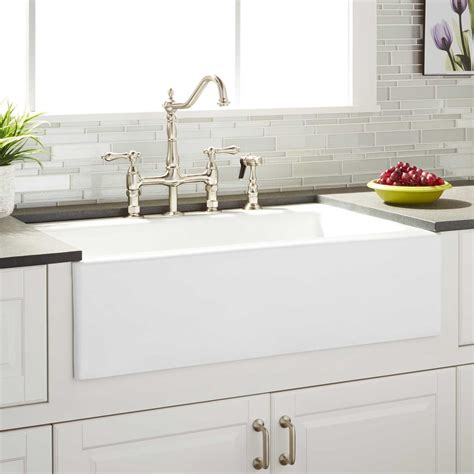 farmhouse faucet kitchen 33 quot almeria cast iron farmhouse kitchen sink kitchen