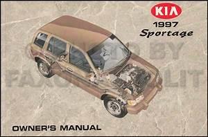 1997 Kia Sportage Owners Manual Original