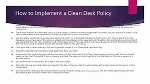 Clean Desk Policy Template Clean Desk Policy