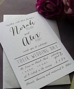 simple white wedding invitations black and white modern With minimalist wedding invitations uk