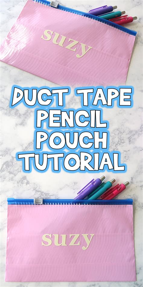 duct tape pencil pouch tutorial woo jr kids activities