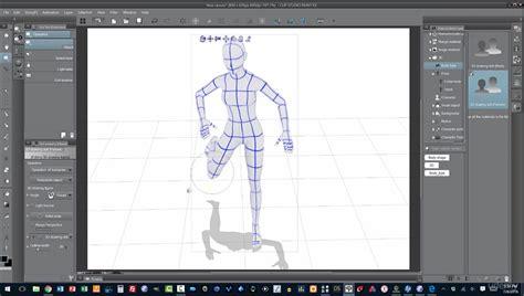 comidoc digital figure drawing   models  clip