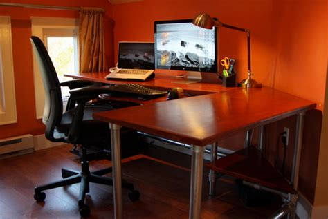 diy corner desk ideas  build  small office spaces