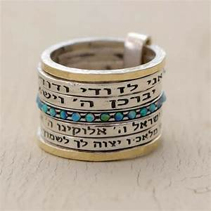 kabbalah ring the four hebrew blessing ring opal ring With blessing of wedding rings