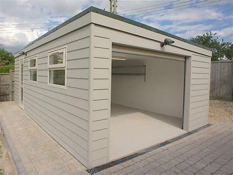 Prefab Garden Buildings, Prefab Flat Roof Garage Sloped